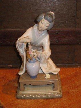 Lladro Geisha Women Porcelain Figurine