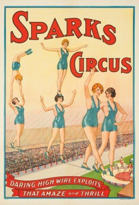 Sparks Circus / High Wire Exploits. Ca. 1922