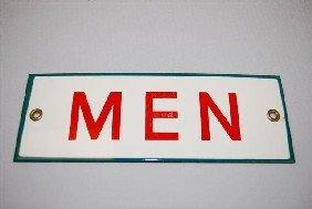 (Associated) Men (restroom) SSP Sign,  2.5x7.75 Inc