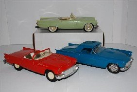 3-1957 Ford Thunderbird Convertibles Promo Cars,