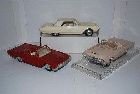 3-1962 Ford Thunderbird Promo Cars & Model, Plast