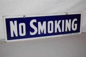 Gulf Refining NO SMOKING  SSP Sign, 5.5x18 Inches,