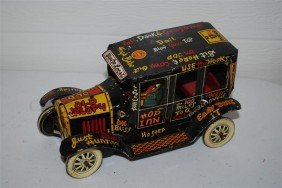 Marx Old Jalopy Coupe With Driver, Tin Litho,  7 In