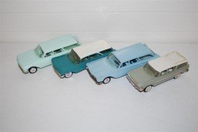 4-Station Wagon Promo Cars  Plastic,