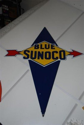 Blue Sunoco  PPP Diecut Sign, 22x16 Inches,