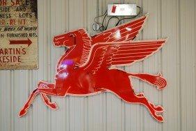 Mobil Pegasus Cookie Cutter SSP Diecut Neon Sign, 7