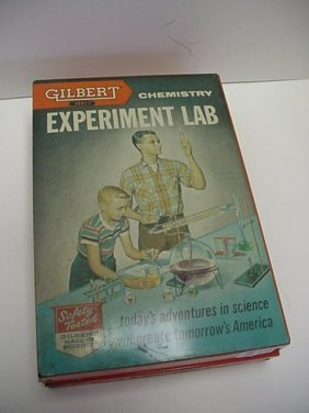 A C Gilbert 1950s Chemistry Set: