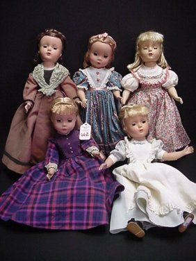 5 Madam Alexander Little Women Dolls: