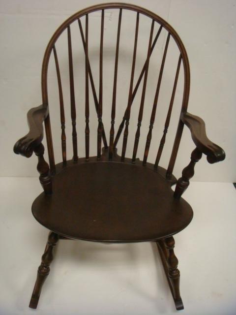 vintage spindle back rocking chair 3