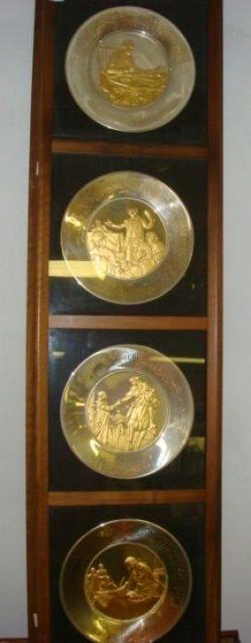 Four Sterling Silver Bicentennial Commemorative Plat