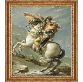 "JACQUES-LOUIS DAVID ""Napoleon Crosses The Alps"":"