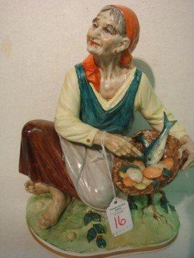 SANDIZELL PORCELAIN FACTORY Gypsy Woman Figurine: