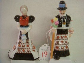 HEREND Hungarian Man And Woman Figurines: