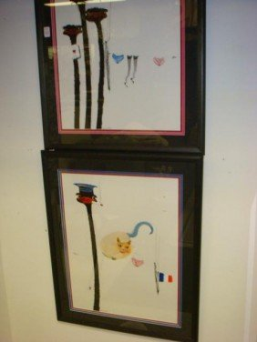 Two Signed JEAN METGY Watercolor On Paper: