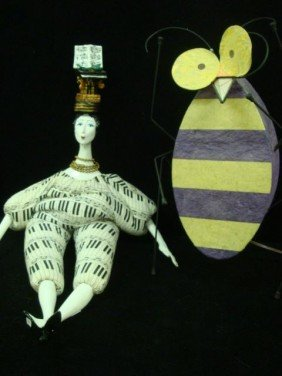 Wire Frame Bee Lamp And ISABELLE Bean Bag Doll: