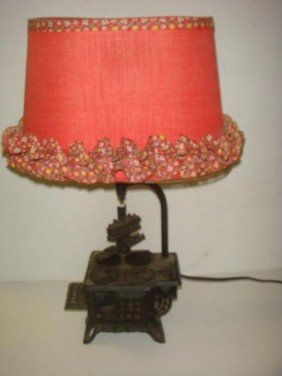 QUEEN Toy Cast Iron Stove Table Lamp: