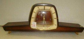 HERMLE German Wood Case Mantel Clock:
