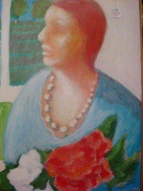 """DeZULIO """"Window Wait"""" Gauche On Canvas:"""