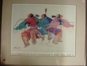 """ENGLISH Offset Print """"Tribute To Wilma Mankiller:"""