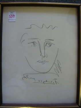 PABLO PICASSO Etching (Pour Roby):