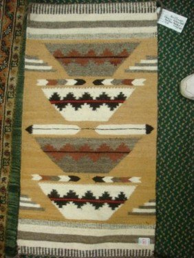 Hand-woven MARIE THOMPSON Navajo Rug: