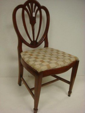 Set Of 5 Federal Revival Cherry Dining Side Chair