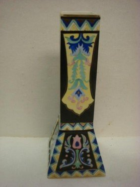 Hand Painted NIPPON Squared Vase With Flared Foot: