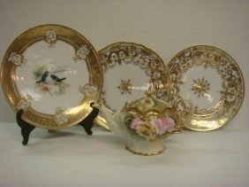 Hand Painted NIPPON Plaque, Plates, Noritake Plate
