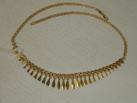 Ladies 14KT Yellow Gold Bib Necklace: