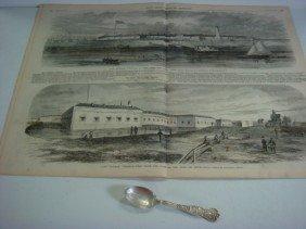 Fort Monroe Sterling Souvenir Spoon & Leslie's Mag