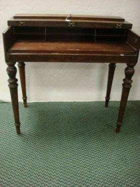 KREISS Mahogany Fold Top Ladies Spinet Desk: