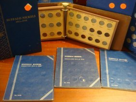 112 BUFFALO NICKELS In Six Display Books
