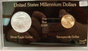 UNITED STATES MILLENNIUM DOLLARS, EAGLE & SACAGAWEA