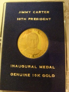 Gold Jimmy Carter Inaugural Coin, 10 KT Gold: