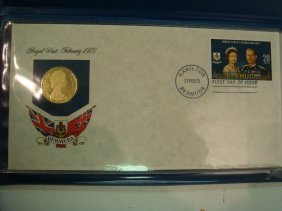 1975 $100 Gold Coin Of Bermuda W/ First Day Cover: