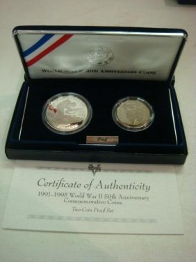 1991-1995 World War II Anniversary Proof Coins: