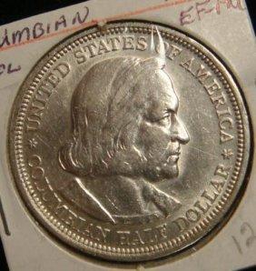1893 Columbian Exposition Silver Half Dollar: