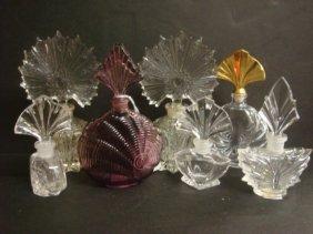 Fan Stopper Top Glass Perfume Bottles: