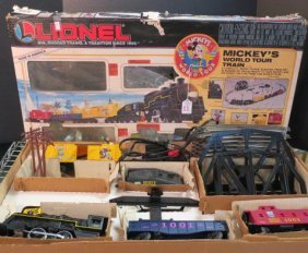"Lionel O Gauge ""mickey's World Tour Train"" Set:"