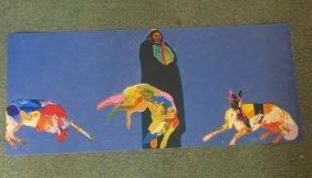 John Nieto Artist Proof Coyote/indian Serigraph: