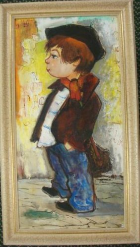"""Oil On Canvas, """"the Little Frenchman"""":"""
