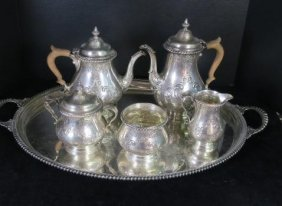 Gorham Six Piece Sterling Silver Coffee & Tea Service: