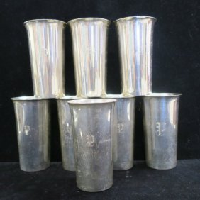Eight Preisner Sterling Silver 12 Oz. Tumblers: