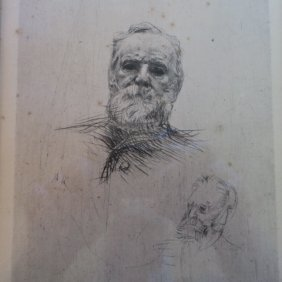 "Rodin ""study Of Victor Hugo"" 5th State Etching:"