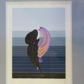"Erte Signed ""beauty Of The Beast"" Ap Serigraph:"