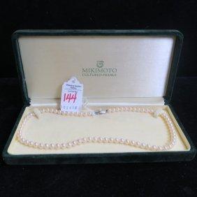 Mikimoto Cultured Pearl Necklace:
