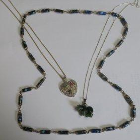 Three Ladies Costume Necklaces: