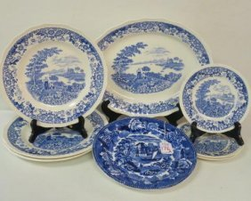 "Swinnertons ""silverdale"" Blue/white China & Wedgwood:"