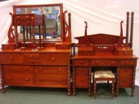 Davis Cabinet Co. 6 Piece Solid Cherry Bedroom Set: