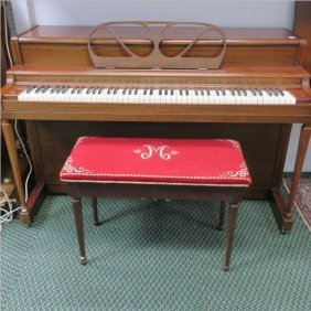 "Lester ""betsy Ross Spinet"" Piano And Bench:"